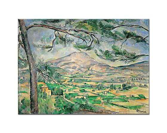 Paul Cezanne Sainte Victoire Dağı tablosu