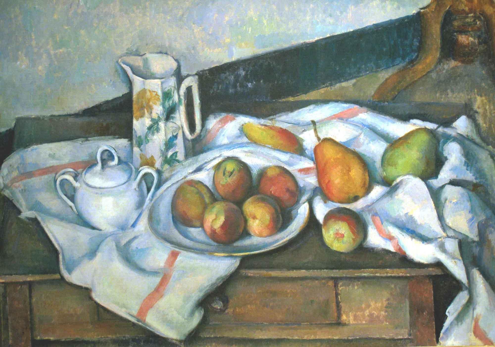 Paul Cezanne Şeker Kaplı Natürmort