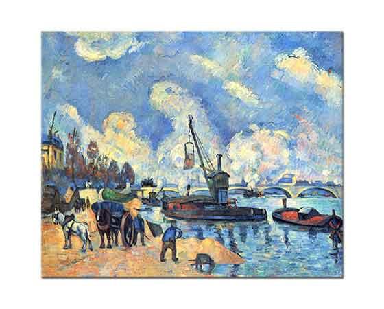 Paul Cezanne Sen Nehri Kıyısı Bercy