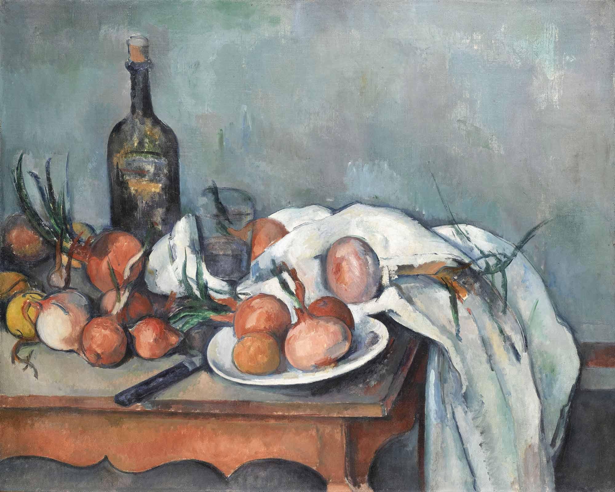 Paul Cezanne Soğanlı Natürmort