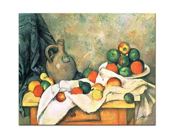 Paul Cezanne Sürahi ve Meyveli Natürmort