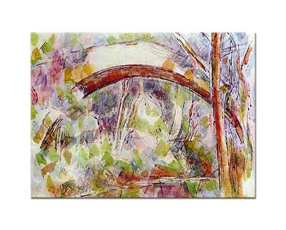 Paul Cezanne Üç Kaynaklı Nehirde Köprü