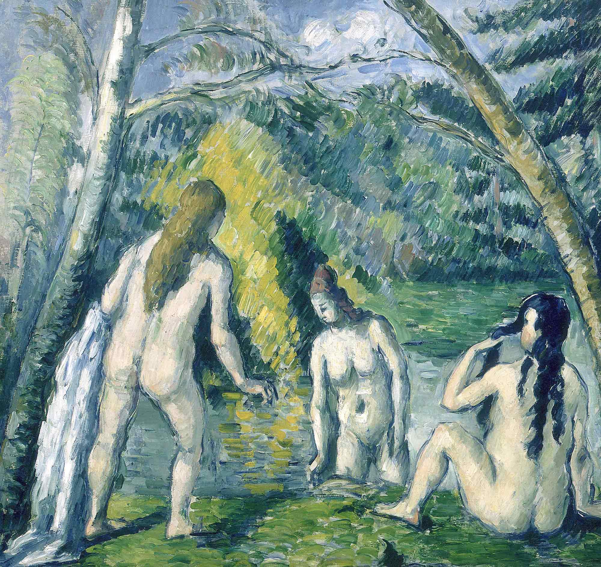 Paul Cezanne Yıkanan üç Kadın