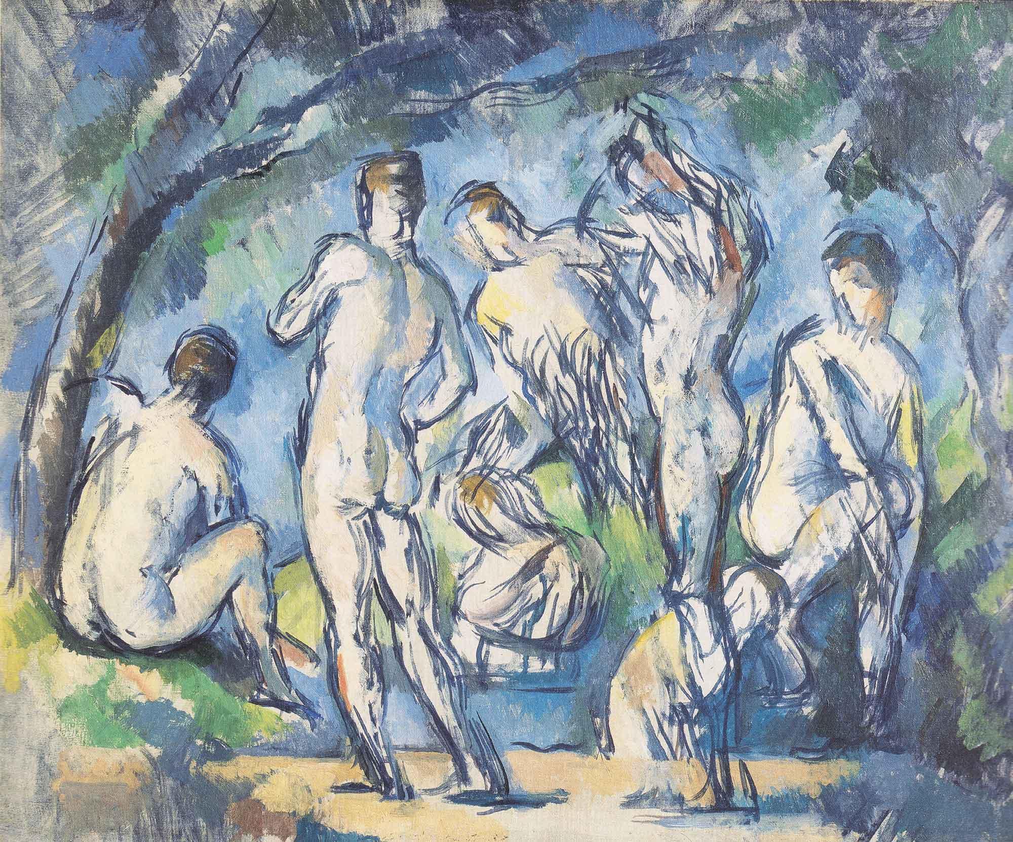 Paul Cezanne Yıkananlar IV