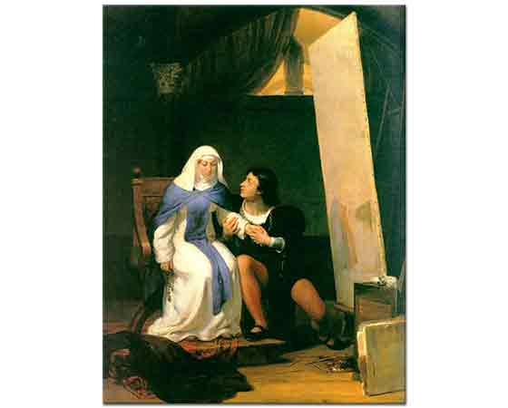 Paul Delaroche Fra Filippo Lippi'nin Modeline Aşık Olması