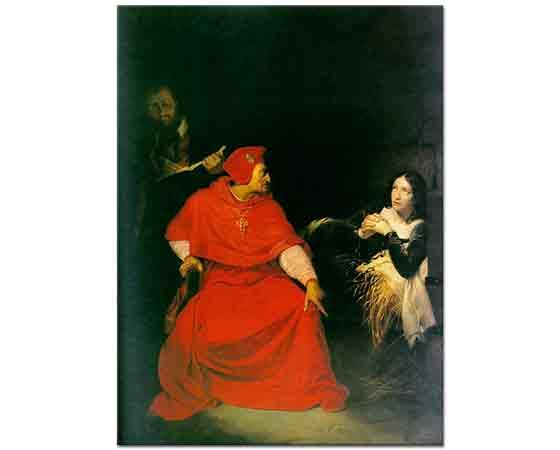 Paul Delaroche Joan d'Arc'ın Hapishanedeki işkencesi