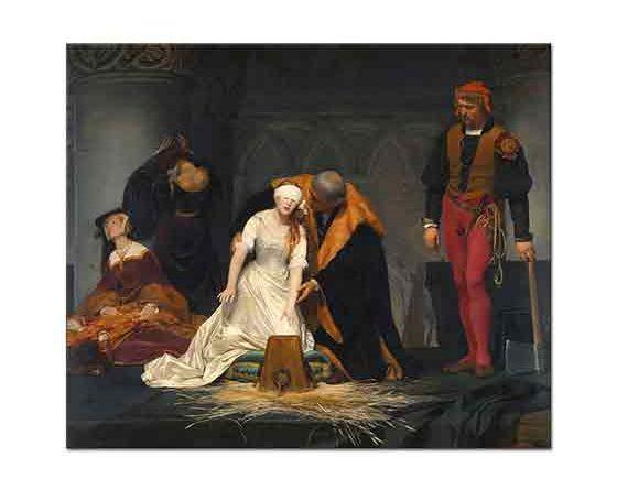 Paul Delaroche Lady Jane Grey'in idamı