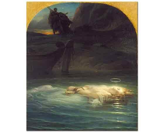 Paul Delaroche Tiber Nehrinde Boğulan Genç Hristiyan Martyr