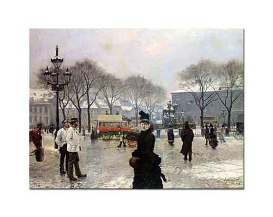Paul Gustave Fischer Kopenhag'da Kış Günü