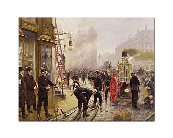 Paul Gustave Fischer Kultorvet'de Yangın