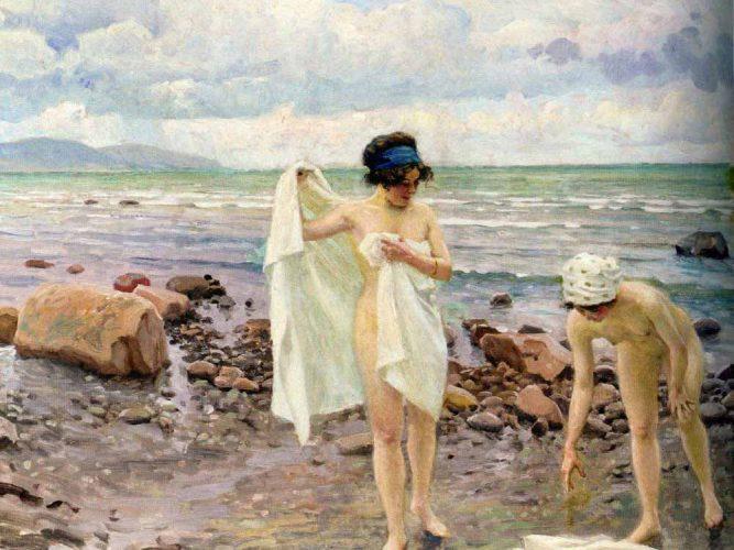 Paul Gustave Fischer Deniz Kenarında Gençler