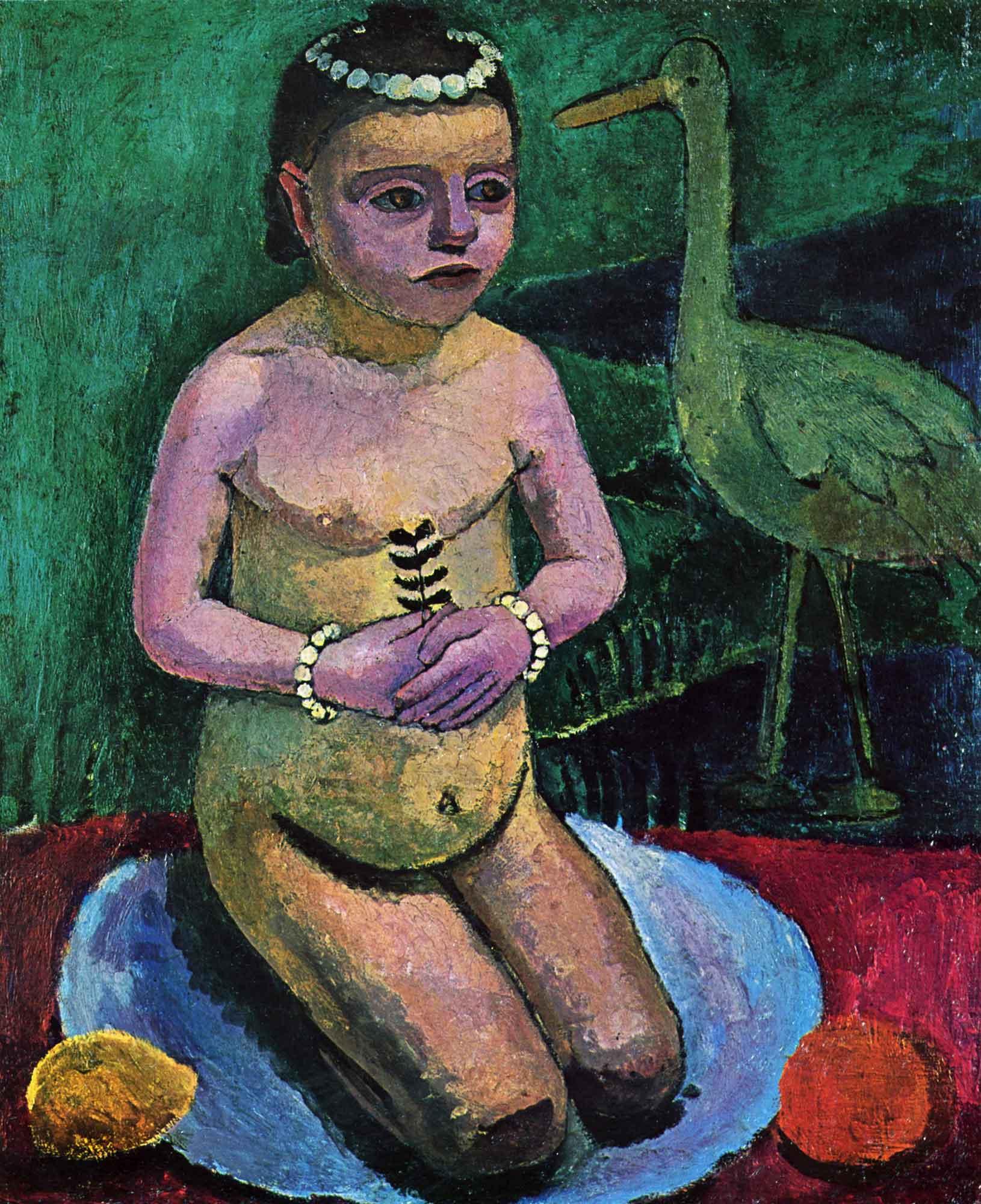 Paula Modersohn Becker Çocuk ve Leylek