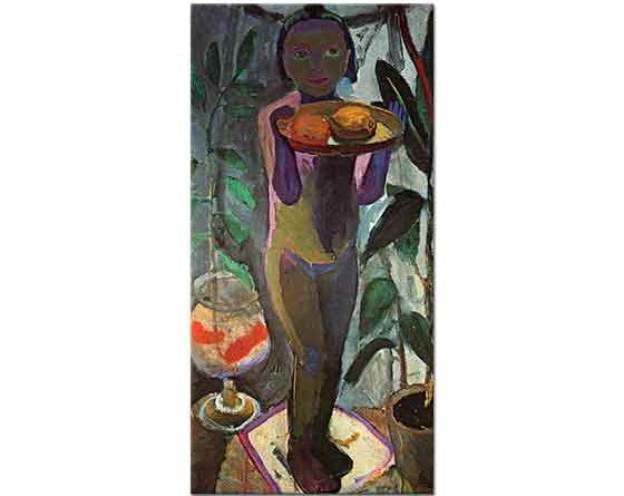 Paula Modersohn Becker Çocuk ve Süs Balığı
