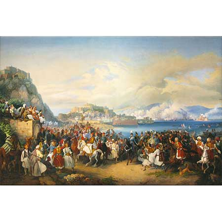 Peter von Hess Yunan Kralı Ottos'un Nauplia'ya Girişi