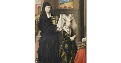 Petrus Christus Portekiz Kraliçesi Isabel Azize Elizabeth ile