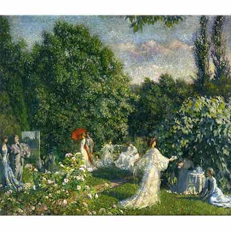 Philip Leslie Hale Bahçede Parti