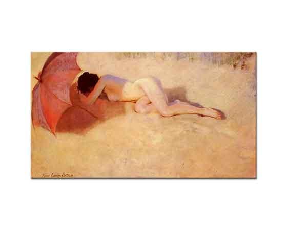 Pierre Carrier Belleuse Şemsiye Altında Nü