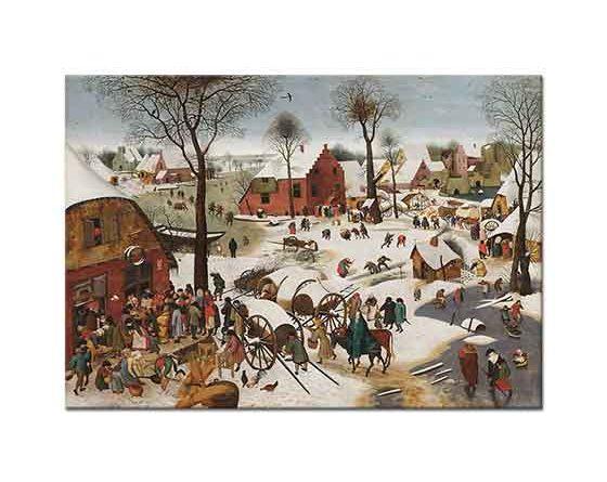 Pieter Bruegel Betlehem için Nüfus Sayımı