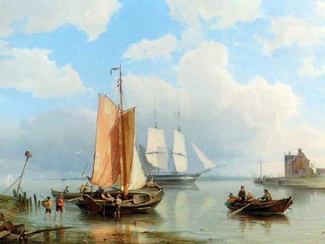 Pieter Christiaan Dommersen Balıkçılar