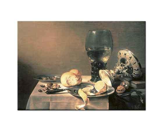 Pieter Claesz Kadeh ve Limonlu Natürmort