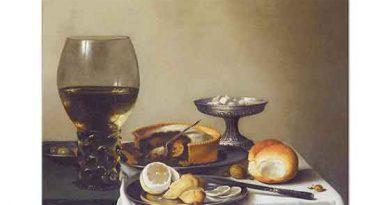Pieter Claesz Limon ve Ekmekli Natürmort