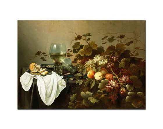 Pieter Claesz Meyve ve Rom ile Natürmort
