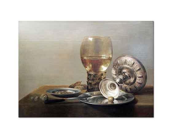 Pieter Claesz Şarap Kadehi ve Gümüş Kase