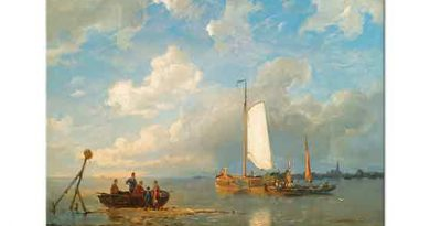 Pieter Cornelis Dommersen Dutch Körfezinde Tekneler