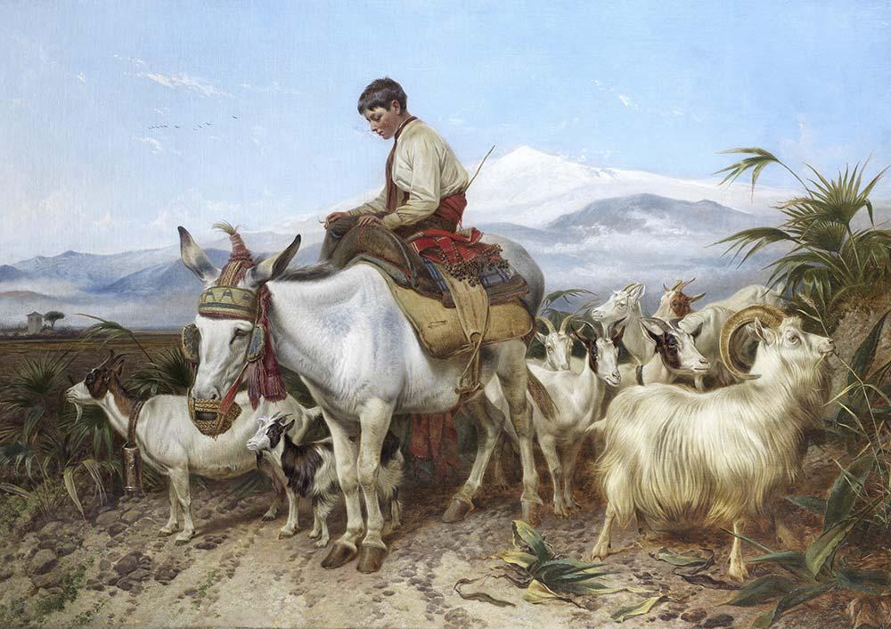 Richard Ansdell Granada Yolunda Otlaktan Dönüş