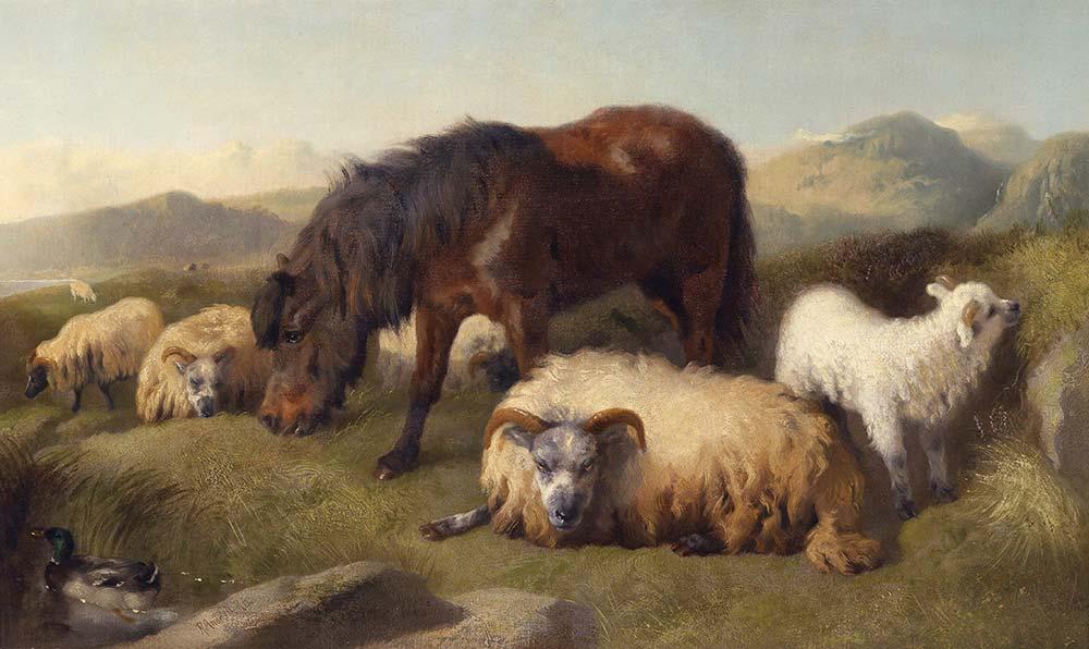 Richard Ansdell Keçiler Koyun ve Midilli