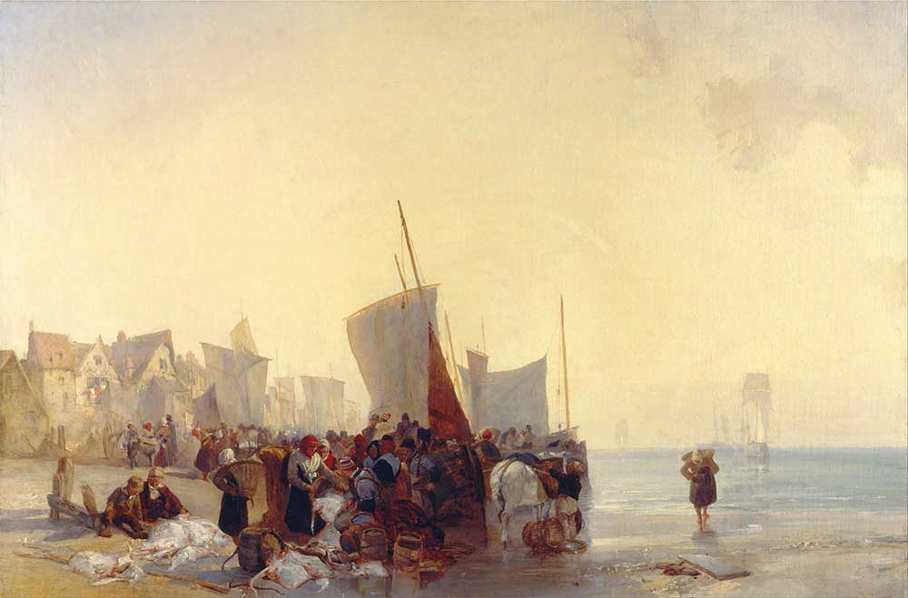 Richard Parkes Bonington Balık Pazarı