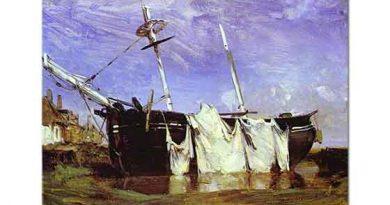 Richard Parkes Bonington Gelgitte Kıyıda Kalan Tekne