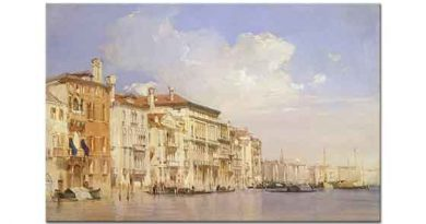 Richard Parkes Bonington Grand Kanal Venedik