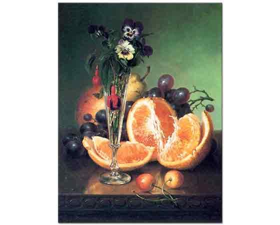 Robert Spear Dunning, Çiçekli ve Meyveli Natürmort