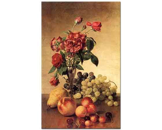 Robert Spear Dunning, Meyveli ve Güllü Natürmort