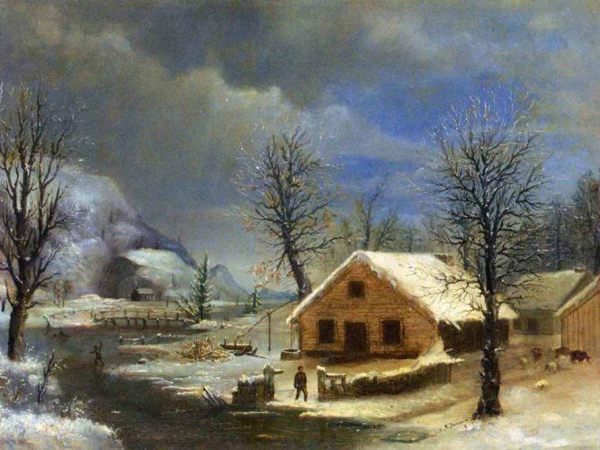 Robert Scott Duncanson Kış tablosu