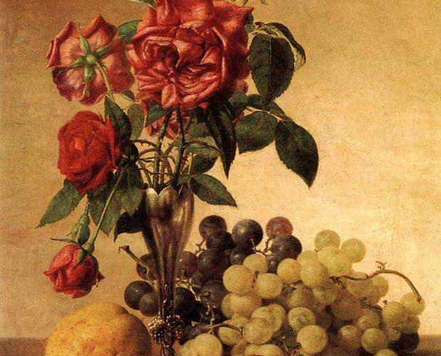 Robert Spear Dunning Meyveli ve Güllü Natürmort