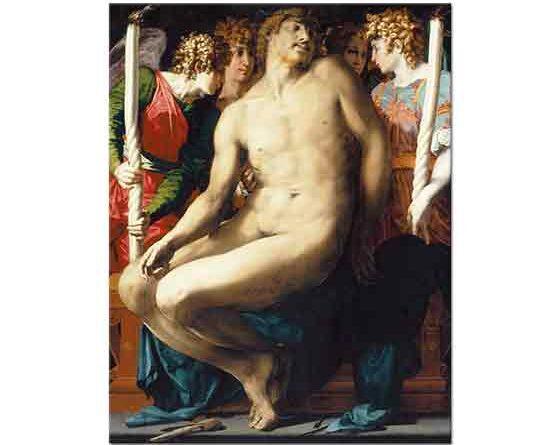 Rosso Fiorentino Isa'nın ölümü ve Melekler - The Dead Christ with Angels