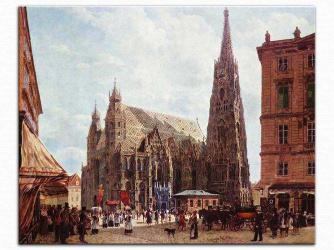 Rudolf Ritter von Alt Stephan Katedrali