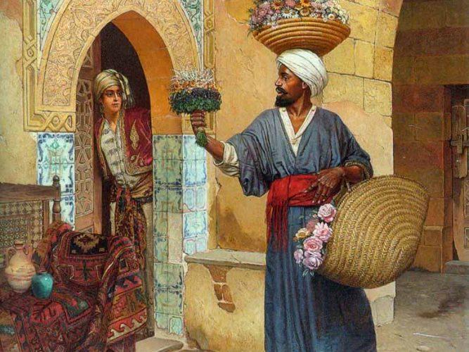 Rudolph Ernst Çiçekçi tablosu