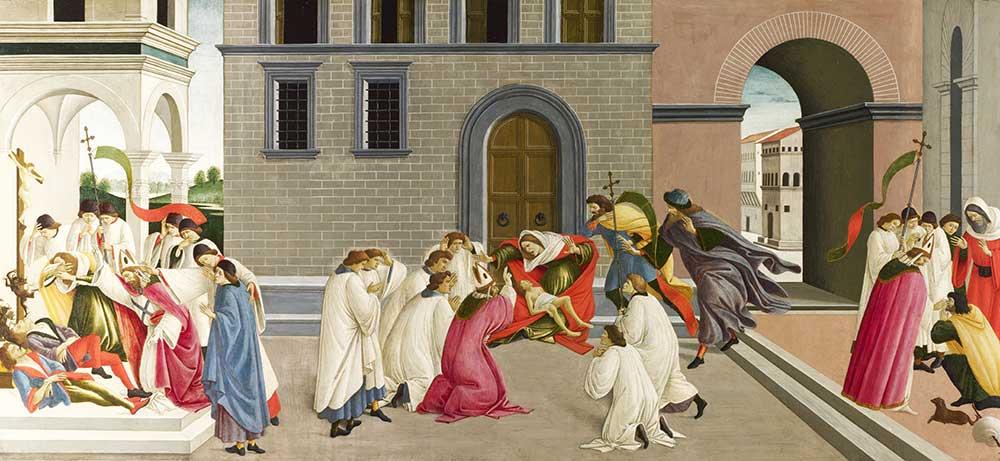 Sandro Botticelli Aziz Zenobius'un Üç Mucizesi