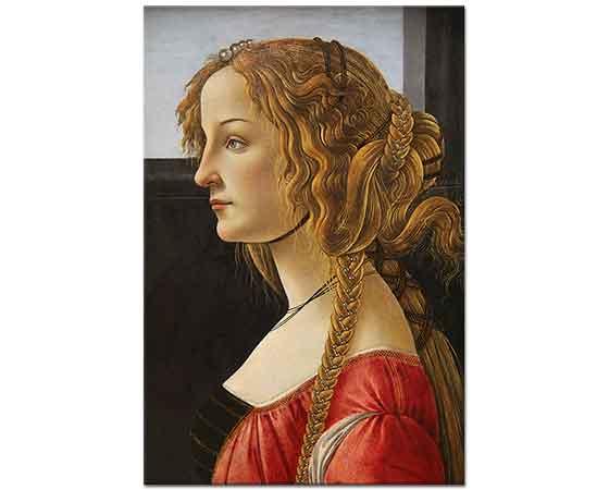 Sandro Botticelli Genç Kadın Portresi