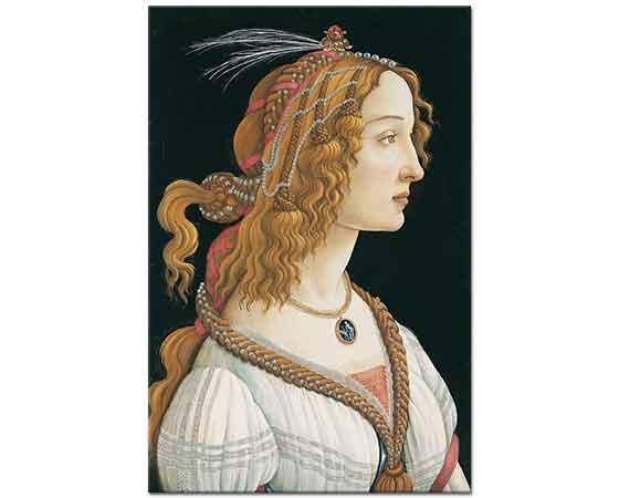 Sandro Botticelli ideal Bir Kadın Portresi
