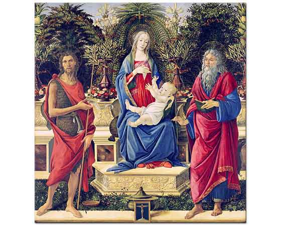 Sandro Botticelli Madonna Azizler ile