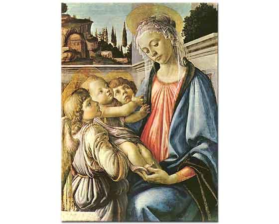 Sandro Botticelli Madonna Çocuğu ve iki Melek