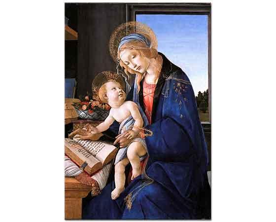 Sandro Botticelli Madonna Kitap Başında