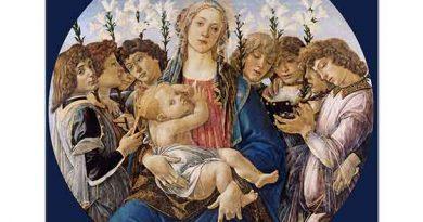 Sandro Botticelli Meryem Çocuğu ve Şarkı Söyleyen Melekler