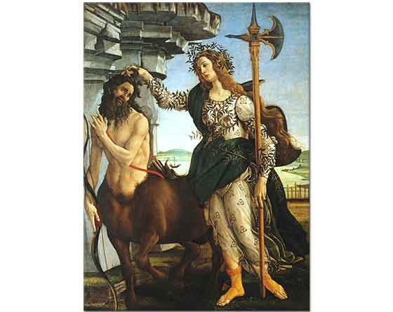 Sandro Botticelli Pallas Athene ve Kentaur