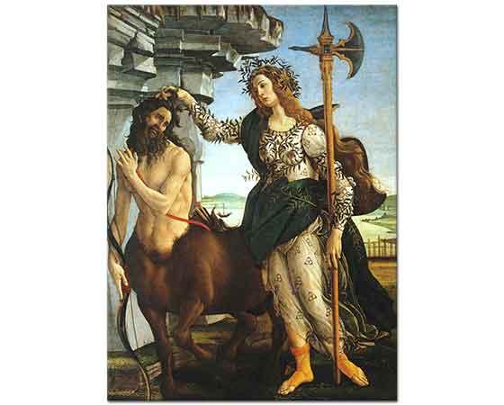 Sandro Botticelli Pallas Athene ve Kentaur