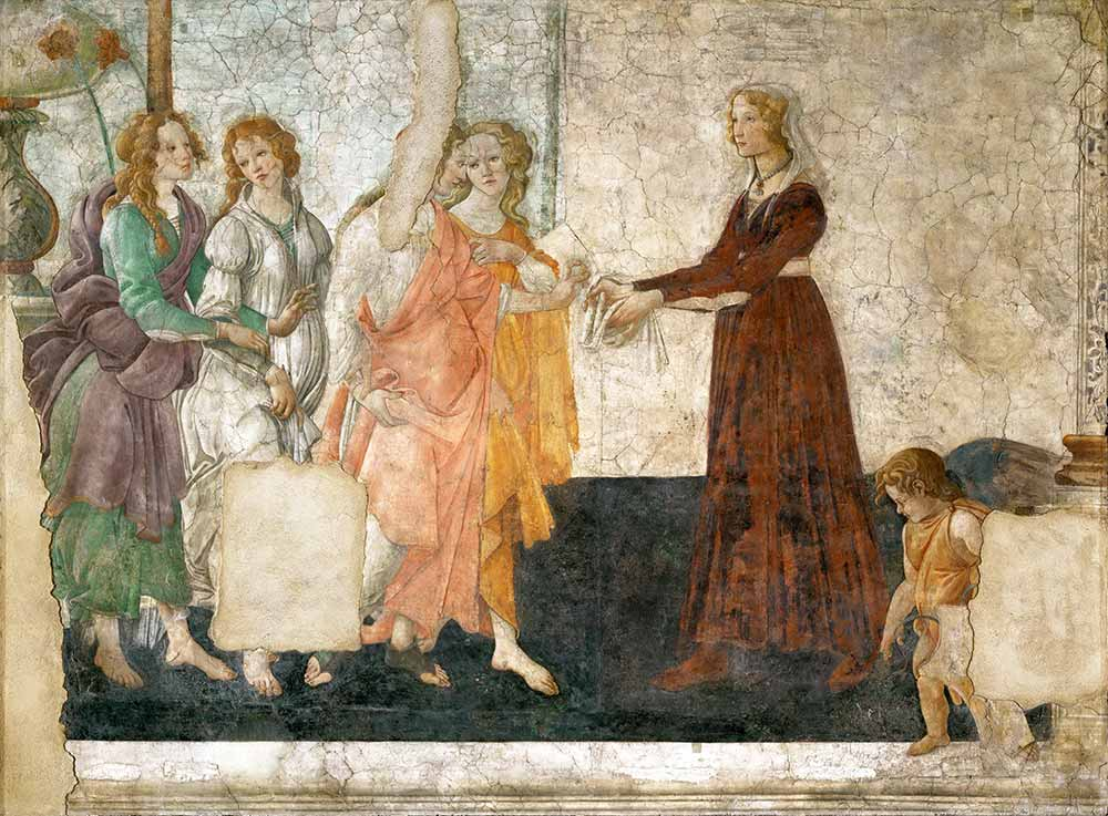 Sandro Botticelli Venüs ve Üç Güzellerin Genç Kadına Hediyesi